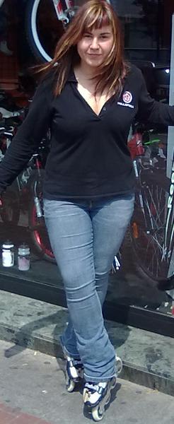 Elena fundador de la tienda de bicicleta de logroño rollerbike