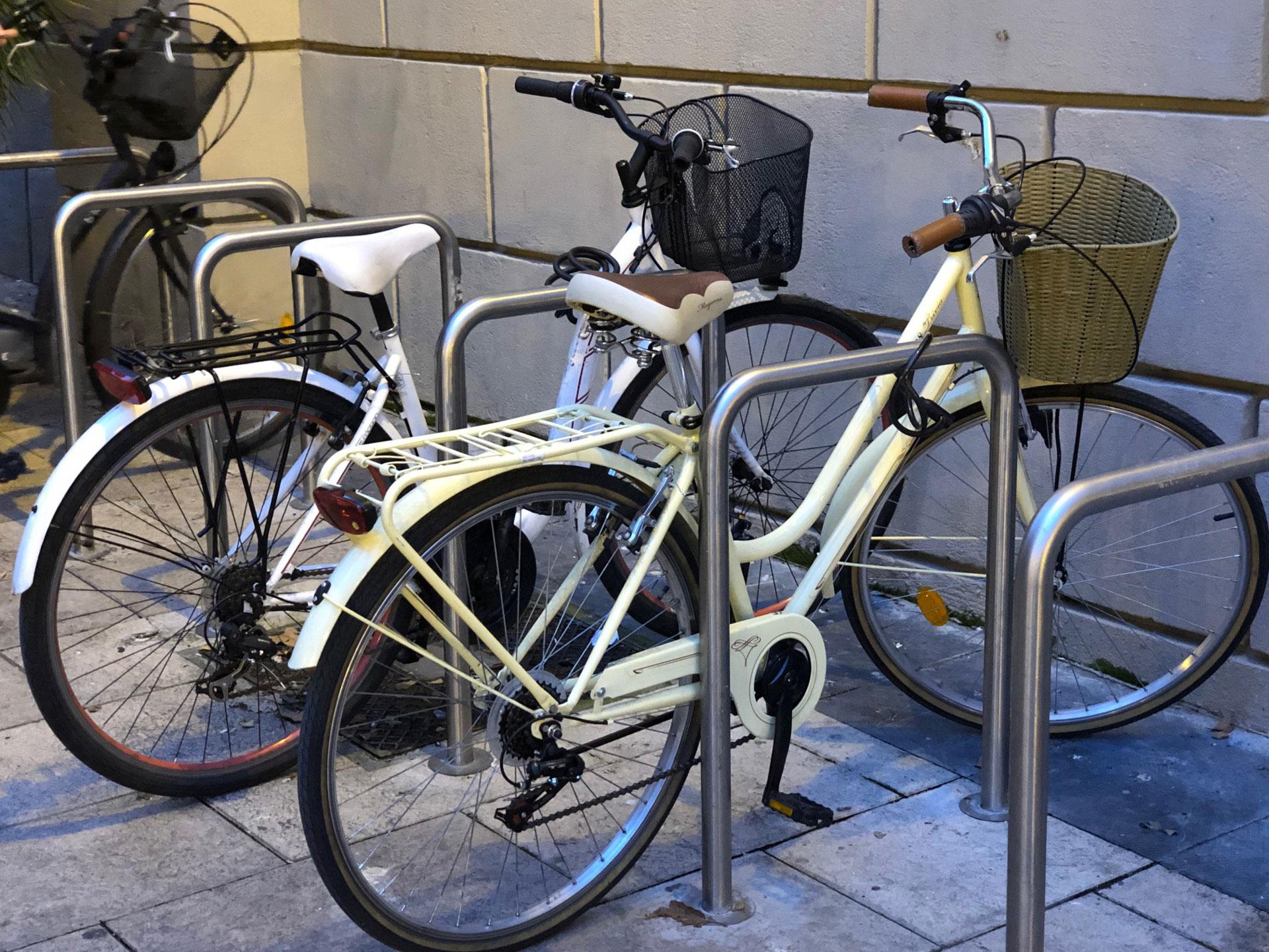 Bicicletas urbanas en Logroño