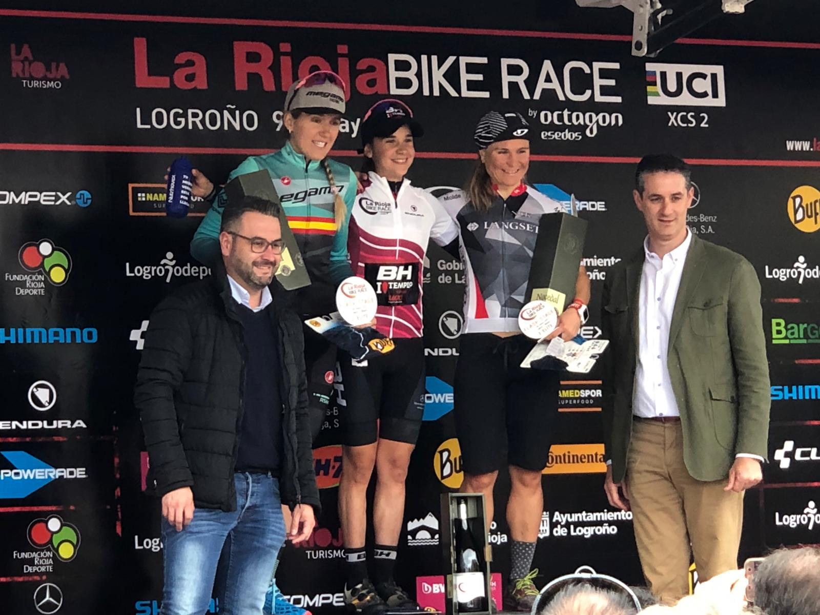 primer podium elite femenino rioja bike race 2019