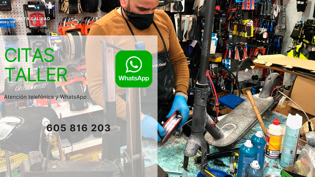 servicios de taller de bicicletas